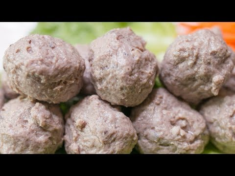 THE SECRECT TO JUICY MEATBALLS (even frozen)! How to make Chinese beef meatballs!