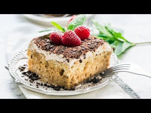 Tiramisu Tres Leches Cake Wide