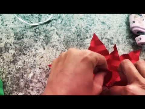 Diy- paper poinsettia flower