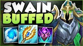 WTF.. WHY IS RIOT BUFFING SWAIN EVERY PATCH?? BUFFED SWAIN SEASON 8 TOP GAMEPLAY! League of Legends