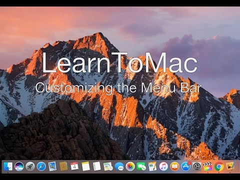 Learn To Mac - Customizing the Mac Menu Bar Tutorial