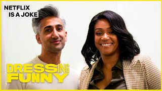 Tan France Gives Tiffany Haddish A Lil Kim Makeover | Dressing Funny | Netflix Is A Joke