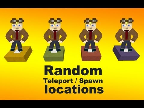 Random Teleport / Spawn locations with a click of a button in minecraft