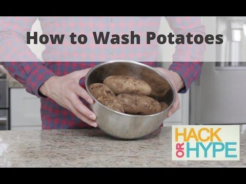 Hack or Hype: Washing Potatoes