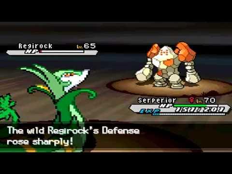 Pokémon White Version 2 Boss Battle Run - Post Game Capture: Regirock, the Rock Peak Pokémon