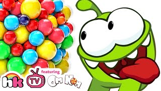 OM NOM vs GIANT CANDY   Cut The Rope   Funny Cartoons Compilation for Children by HooplaKidz TV