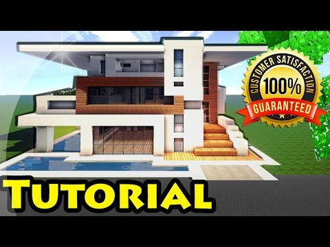 Minecraft: Easy Modern House / Mansion Tutorial #4 + DOWNLOAD - 1.8 [ How to make ]