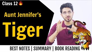 Aunt Jennifer's Tiger summary in Hindi | Class 12 English | Flamingo | Chapter Reading and Summary