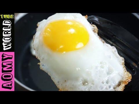 Crispy Fried Egg | Easy Breakfast Recipe | AomyWorldTUBE