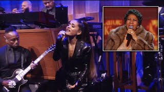Ariana Grande Belts Out Emotional Tribute to Aretha Franklin