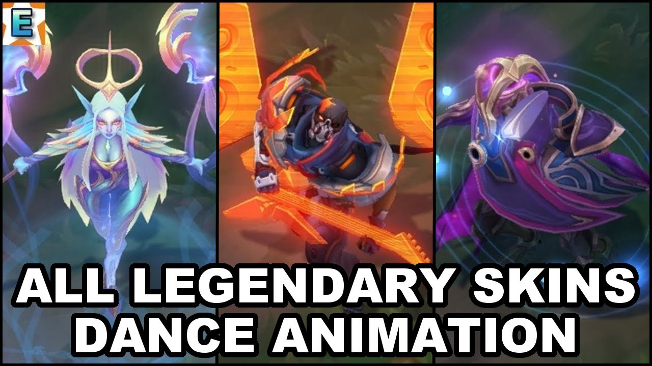 All 63 Legendary Skins Dance Animations (2020) - League of Legends