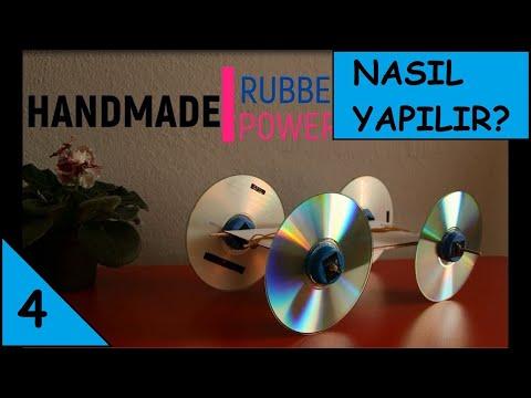HOW TO MAKE A RUBBER BAND POWERED HANDMADE TOY CAR - El yapımı lastikli araba nasıl yapılır