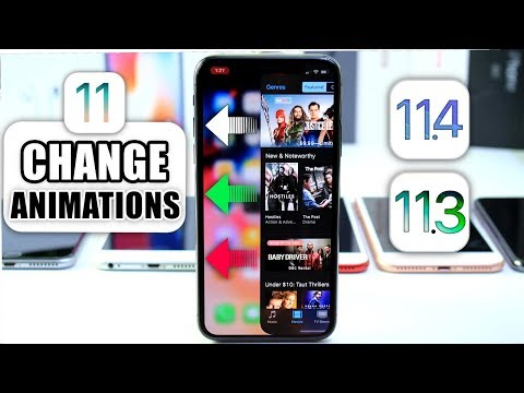 Change the Animations on iPhone iOS 11.3 - 11.4