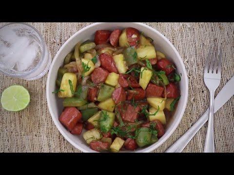 How to Make Hawaiian Sausage Skillet | Sausage Recipes | Allrecipes.com
