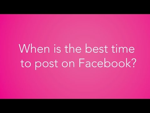 How to find the best time to post to YOUR Facebook Page