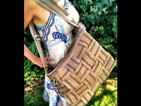 DIY Jute Webbing Tote Bag