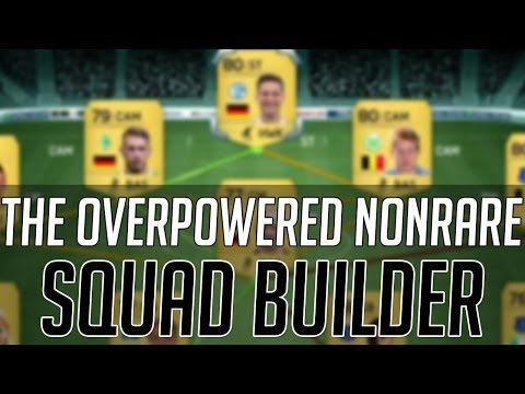 THE AFFORDABLE OVERPOWERED NONRARE HYBRID SQUAD (CHEAP) | FIFA 14 Ultimate Team Squad Builder