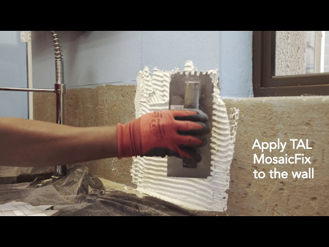How to install a glass mosaic splashback in your kitchen