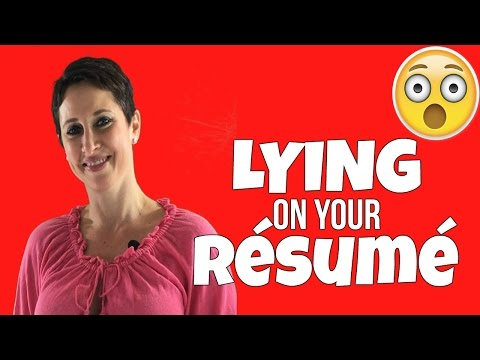 SHOULD YOU LIE ON YOUR RESUME?!