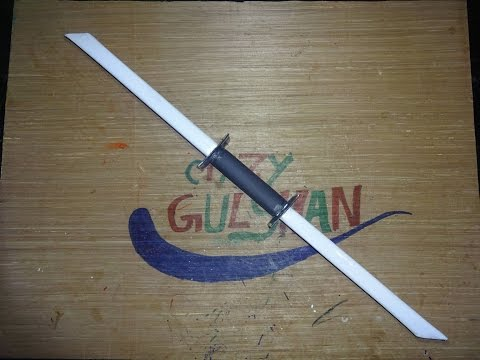 How to make a paper double blade sword