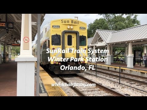 Sun Rail Train System Orlando - Wheelchair Accessibility Review