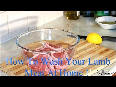 How To Wash Your Lamb Meat At Home | Recipes By Chef Ricardo