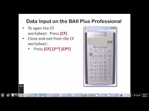 Ch. 15 - Using the BAII Plus Professional Calculator to Calculate NPV & IRR