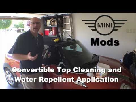 Mini Cooper Convertible Top Cleaning and Water Proofing