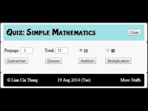 Exam or Quiz Application Program using PHP