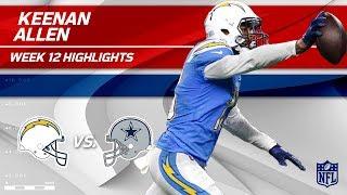 Keenan Allen Sails Past Dallas w/ 11 Grabs, 172 Yds & 1 TD | Chargers vs. Cowboys | Wk 12 Player HLs