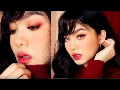 SOFT ROMANTIC HOLIDAYS MAKEUP + FAUX BANGS | Jessica Vu