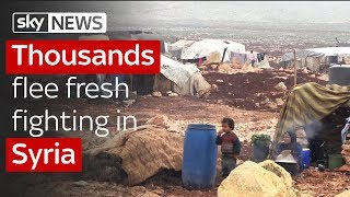 Thousands flee as Syria violence intensifies