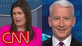 Anderson Cooper laughs at Sanders