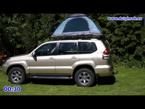 Self made Car Rooftop Tent set up in 2 minutes