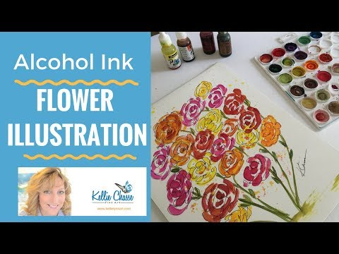Alcohol Ink Flower POWER? Try a FUN Illustration Painting warm up!