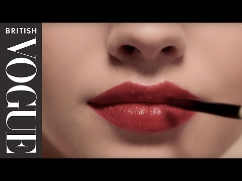 How to Wear a Red Lip - Vogue's Makeup Tutorials | Vogue Beauty School | British Vogue