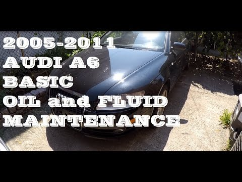 How to Check your Audi A6 Fluids 2005-2011