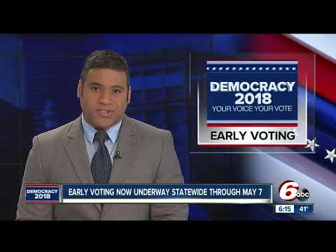 Early voting begins for Indiana's May 8 primary election