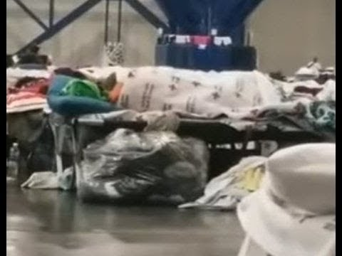 Flood Victims In A Houston Shelter Caught Getting Personal.