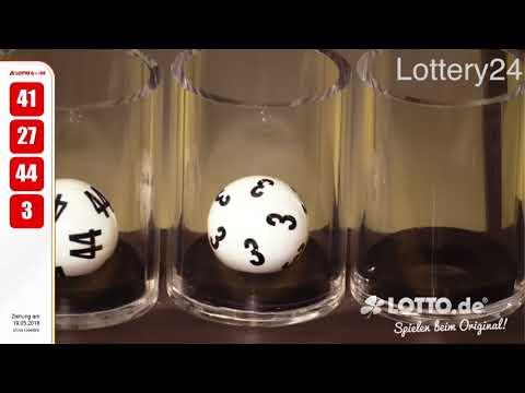2018 05 19 German lotto 6 aus 49 numbers and draw results