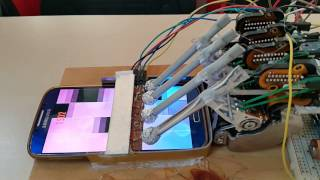 """Piano Tiles 2"" was played by the homemade robot. - THE FOUNTAIN, CARL BOHM - ASMR effective"