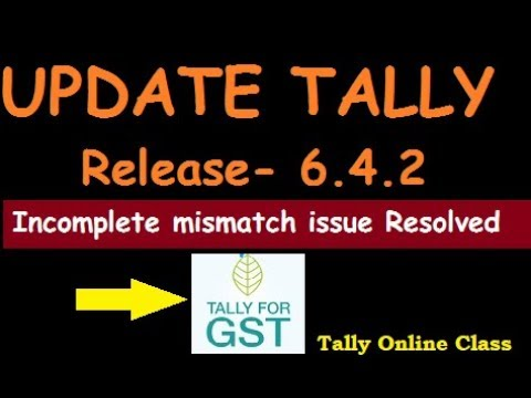 Tally Update 6.4.2 Release/resolved incomplete mismatch issue