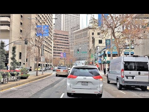 Driving Downtown - San Francisco's Wall Street 4K - USA