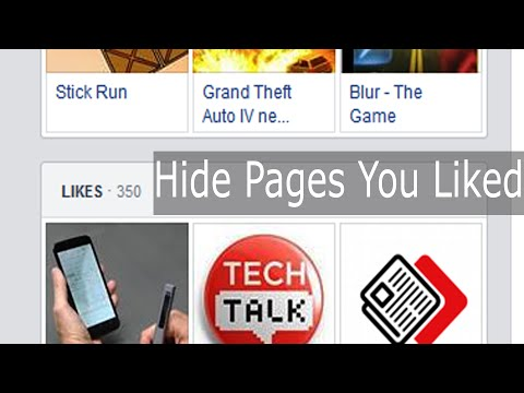 Hide Facebook Page LIKES activity shown in your profile