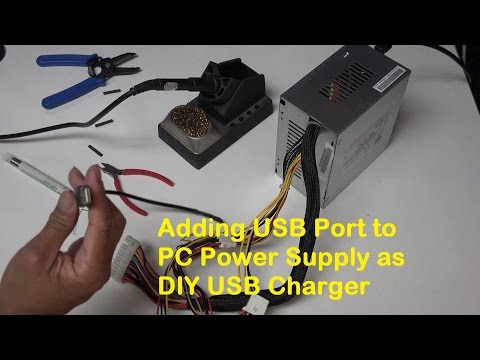 Adding USB Port to PC Power Supply as DIY USB Charger