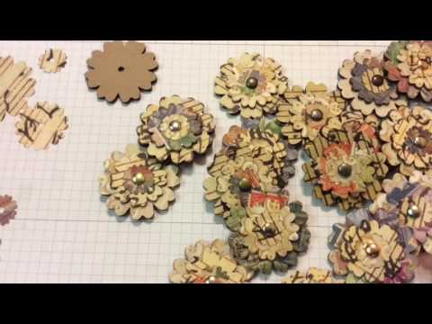 Handmade Paper Flowers for Cards and Scrapbook Pages