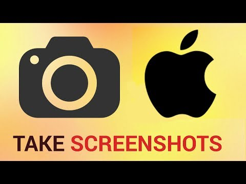 How to take a screen shot on an iPad or iPhone