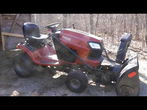 Remounting the Mower Deck on Craftsman T2400 Riding Lawnmower