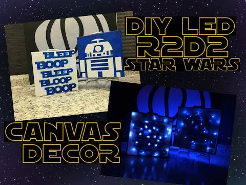 DIY Star Wars LED Light Canvas