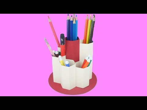 DIY : How To Make Pen Stand From Paper- Easy Craft TCraft
